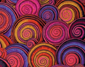 1/2 Yard - Spiral Shells - Red - Spring 2015 - Kaffe Fassett Collective - Philip Jacobs - Rowan - Fabric Yardage - PWPJ073.REDXX