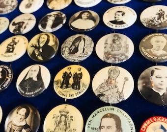RELIGIOUS SOUVENIR PINS Vintage & Antique Pious Goodness Your Pick