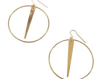 Spike Hoop Earrings, Statement Earrings; Spike Earrings; Hoop Earrings; Sterling Silver Spike Earrings; Gold Spike Earrings