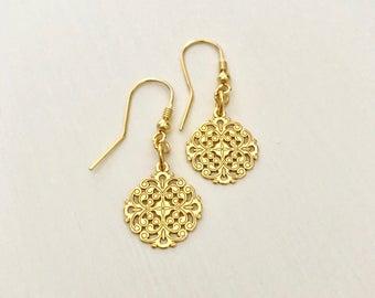 24K Gold plated Openwork Earrings