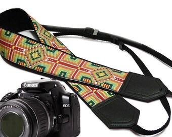 Ethnic Camera strap.  DSLR / SLR Camera Strap. Camera accessories by InTePro