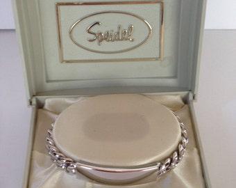 Speidel Vintage New Men's ID Bracelet
