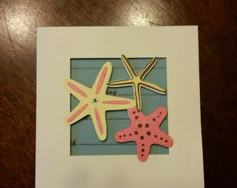 Beach Theme Custom Handmade RSVP Cards