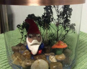 Crypto Collection - Gnomeo - clay monster - Christmas - horror - handmade - stocking stuffer - elves - gnomes - forest creatures - mythology