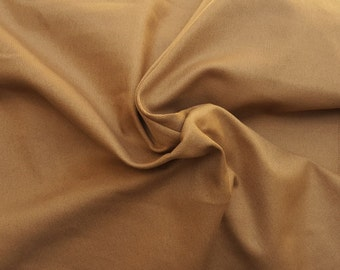 Organic Cotton Twill Fabric by the Yard Light Brown 10/15