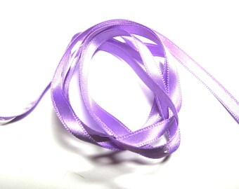 LILAC SATIN RIBBON DOUBLE SIDED 6 MM