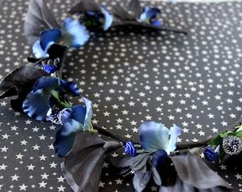 Malaise Faerie Flower & Leaf Crown - Wreath - Tiara - Headband - Prom - Bridal - Wedding - Halloween