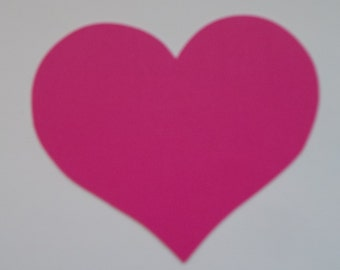 Heart die cuts; 30 pieces set; die cut shapes; hearts; 3 inch hearts; embellishments; paper shapes; die cuts; shapes; red, pink