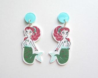 These earrings mermaids