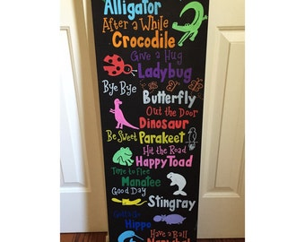 See You Later, Alligator canvas