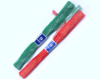 Vintage Christmas Ribbon - 3 Red - 3 Green