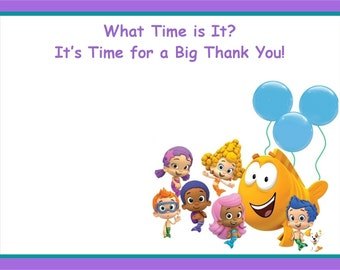 20 Bubble Guppies Thank You Cards