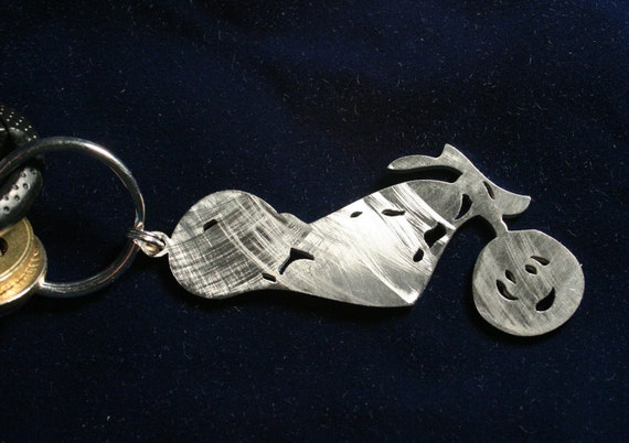 Stainless Steel Chopper Keychain Charm III