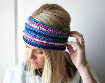 SALE Crochet Earwarmer Headband Boho Fashion Headwrap