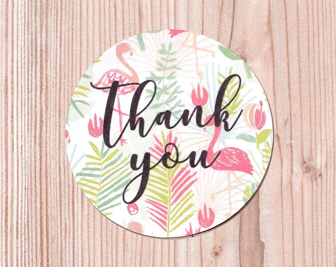 "Featured listing image: Set di Stickers ""Thank you"" Tropicali 