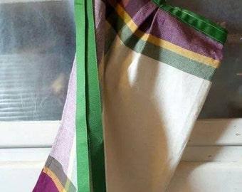 Fall Plaid Tea Towel Half Apron