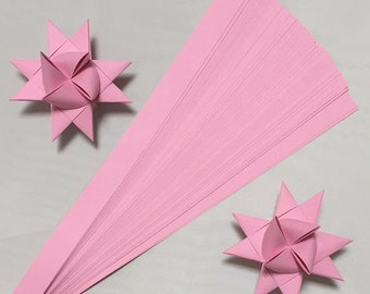 Single Color Pink, 5 sizes , 25 inch long, (50 strips)
