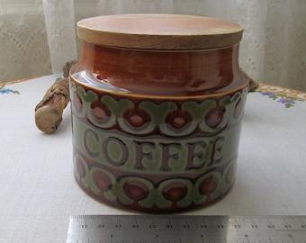 Hornsea Pottery Bronte - 1977 - John Clappison - Coffee Storage Jar