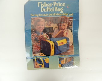 Vintage 1986 sealed Fischer price small kids duffel bag-the bag for lunch and all kinds of cool stuff