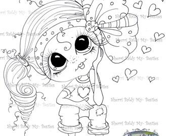 INSTANT DOWNLOAD Digital Digi Stamps Big Eye Big Head Dolls Digi Img492 By Sherri Baldy