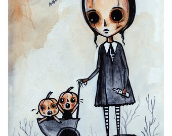 Crying Pumpkins 8x10 ART PRINT by Lupe Flores