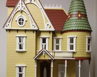 1:12 Scale Wooden Victorian Dollhouse Mansion,  Mirabella Series