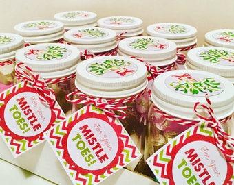 Look after those Mistle'toes' pamper pedicure jar. Perfect stocking filler. Secret santa gift!