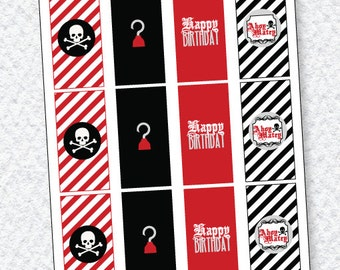 Pirate Party PRINTABLE Mini Candy Bar Wrappers by Love The Day