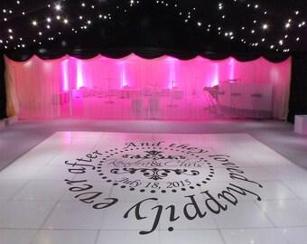 Wedding Dance Floor Decal, Wedding Decor, Dance Floor Decal, Wedding Decorations, Wedding Wall Decal, Photo Wall Decal - DFD0001
