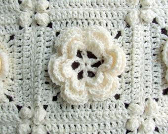Crochet Pattern - Rosanna - Granny Square / Afghan Block - Irish Rose - Instant Download