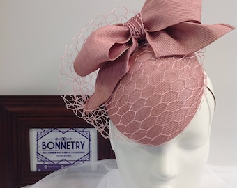Dusty Pink, Upcycled vintage straw hat