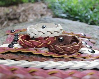 Mystery Braid Leather Bracelet