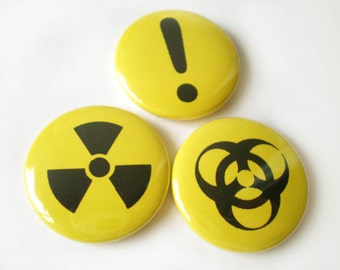 Shes Toxic pinback buttons