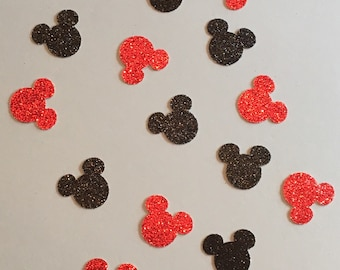 200 Minnie Mouse Mickey Mouse Confetti Glitter Confetti Minnie Mouse Birthday Confetti Minnie Mouse Baby Shower Confetti Minnie Mouse Decor