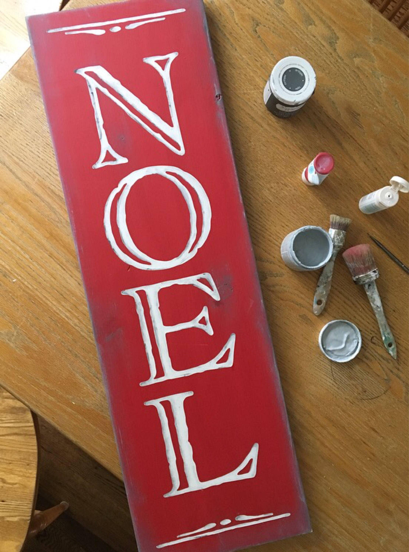 Noel Rustic Wooden Sign...