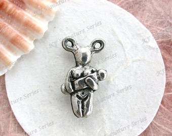 Goddess Beads, Lead Free Pewter Goddess Beads, Mother Goddess, Goddess Charms, Made in the USA, Copyright © Protected Pewter Beads K307 AP