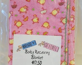Boy Girl Baby Receiving Blanket