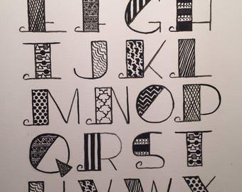 Monochrome Alphabet Soup