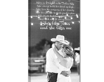 Personalized Holiday Gift for Him or Her Your Photo to Canvas Art Personalized  with Your Words