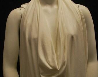 Micro Modal 4 ways Spandex Jersey Knit Fabric Eco-Friendly Ivory pfd dyeable  9.5-10 Oz