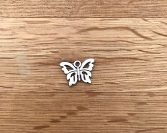 Antique Silver Tone Tibetan silver butterfly charms 15mm x 10mm
