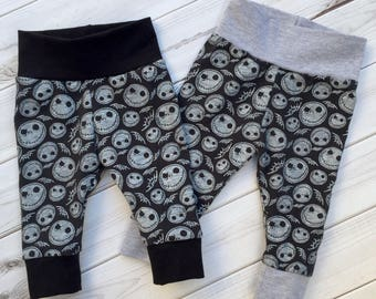 Jack Skellington leggings, halloween leggings, nightmare before christmas leggings, joggers, Hipster leggings, baby pants, first halloween,