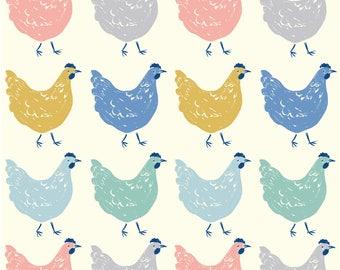 Roost - Homestead by Emily Isabella - Organic Poplin Cotton Fabric - Birch Fabrics