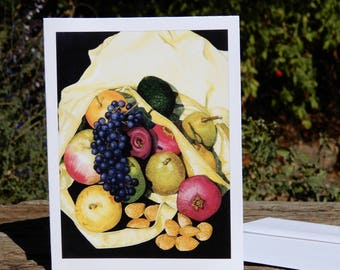 Set of 'Home from the Market' note cards