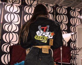 Lucky #7 jean jacket