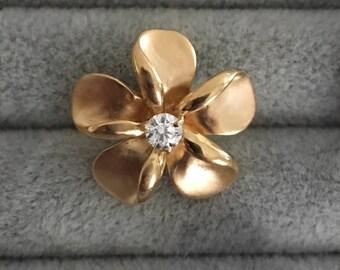 Vintage Flower Diamond Pendant