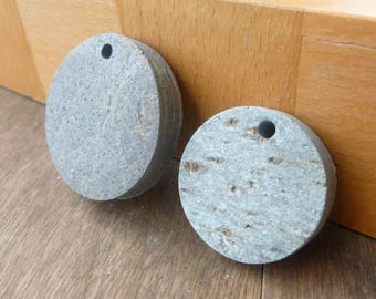 Round Stone Pendant - Pendant Rocks - Mandala Rocks - Drilled Stones - Drilled Rocks - Top Drilled Stones - Beach Stones - Oil Diffuser