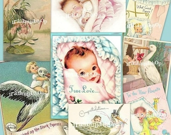 BABY Collage 01 Digital Images -printable download  file-