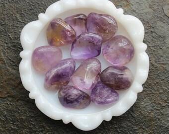 Ametrine Tumbled Stone , Large