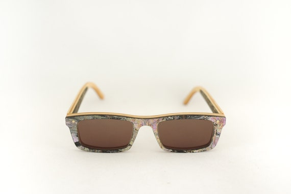 skateboard recycled sunglasses CURB shape ! Brown color #madeinfrance #upcycle